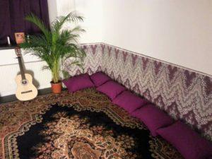 vårt yoga- och meditationsrum